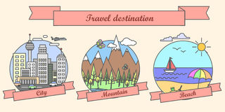 Travel Destination Different Places To Go On Vacation Stock Images