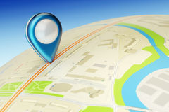 Travel destination, gps location and positioning concept Royalty Free Stock Photography