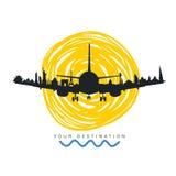 Travel destination icon art illustration Stock Photos
