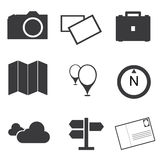 Travel destination icons set Royalty Free Stock Photo