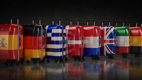Travel destination and journey luggage concept Royalty Free Stock Image