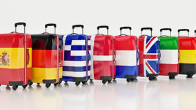 Travel destination and journey luggage concept Stock Photos