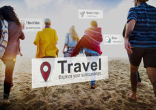 Travel Destination Journey Vacation Trip Concept Stock Photography