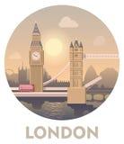 Travel destination London. Vector icon representing London as a travel destination stock illustration