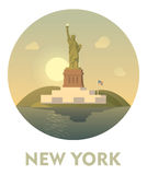 Travel destination New York icon Royalty Free Stock Images