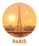 Travel destination Paris icon Royalty Free Stock Image
