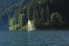 Travel destination See Obersee Tannen und Brunnen Lizenzfreies Stockbild