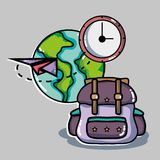 Travel destination to vacation and adventure tourism. Vector illustration Stock Photography