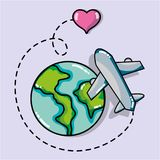 Travel destination to vacation and adventure tourism. Vector illustration Royalty Free Stock Image