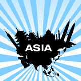 Travel destinations in asia royalty free illustration