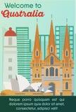 Travel destinations card. Trip to Australia royalty free illustration