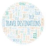 Travel Destinations word cloud. royalty free illustration