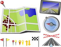 Travel Directions Stock Photo