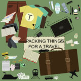 Travel  disorder infographic. Vector travel  disorder infographic olive background Stock Photography