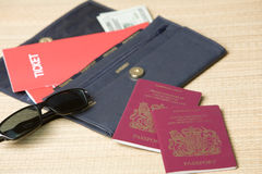 Travel documents Stock Image