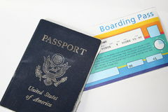 Travel documents. What a person needs to travel Royalty Free Stock Photography