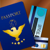 Travel documents. Over brown background vector illustration Royalty Free Stock Photography