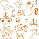 Travel doodle collection vector art Royalty Free Stock Photos