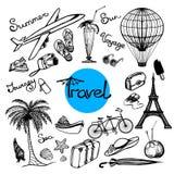 Travel Doodle Set Stock Image