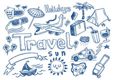 Travel doodles Royalty Free Stock Photography