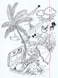 Travel doodles. Holiday (travel) doodles,  illustration Royalty Free Stock Photos