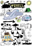 Travel doodles collection Royalty Free Stock Photography