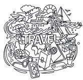 Travel doodles Stock Image