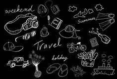 Travel drawing sketch Stock Photos
