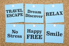 Travel Dream Relax Free Smile Royalty Free Stock Images