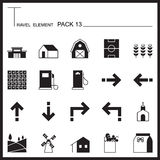 Travel Element Graph Icon Set 13.Country thin icons.Mono pack.Gr Royalty Free Stock Photos