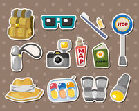Travel element stickers. Cartoon vector illustration Royalty Free Stock Photography