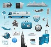 Travel elements vector illustration