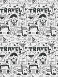 Travel elements doodles hand drawn line icon,eps10 Royalty Free Stock Images