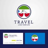 Travel Equatorial Guinea Creative Circle flag Logo and Business. Card design - This Vector EPS 10 illustration is best for print media, web design, application royalty free illustration