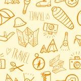 Travel equipment background Royalty Free Stock Photos