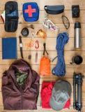 Travel equipment set Stock Photography