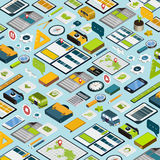 Travel essentials concept 3d isometric infographic Royalty Free Stock Images