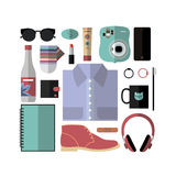 Travel essentials Stock Image