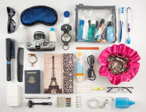 Travel Essentials Photomontage Stock Photography