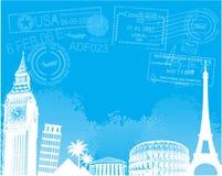 Travel europe background vector illustration Stock Photo
