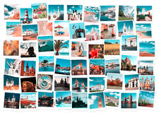 Travel in Europe collage. Travel in Europe and nature collage, toned images Royalty Free Stock Photos