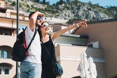 Travel Europe. Happy couple in Portopiccolo Sistiana, Italy. Royalty Free Stock Photo