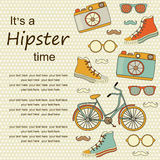 Travel Europe hipster Background with place for text. Stock Image