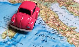 Travel Europe - Italy. Concept of traveling through Europe by car to Italy Stock Images