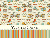 Travel Europe seamless hipster Background with place for text. Royalty Free Stock Photography