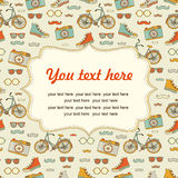 Travel Europe seamless hipster Background with place for text. Stock Photography