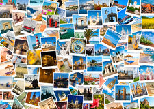 Travel in Europe. Set of polaroid pictures Stock Photography