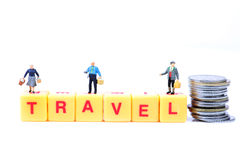 Travel and expenses Stock Image
