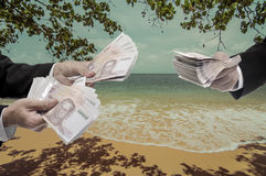 Travel expenses concept Royalty Free Stock Images
