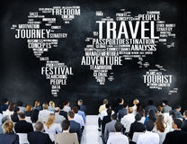 Travel Explore Global Destination Trip Adventure Concept Royalty Free Stock Photography